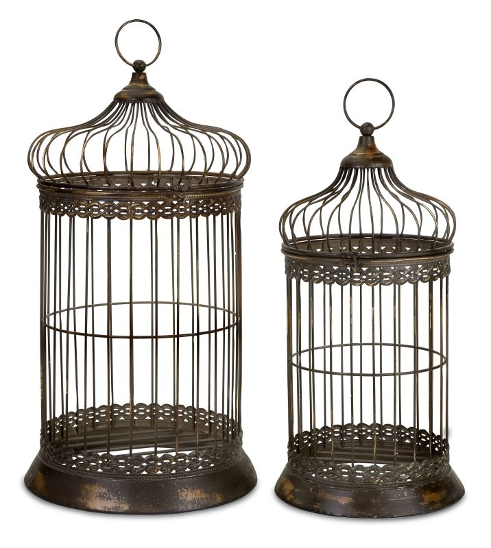 IMAX Home 47126-2 Byzantine Dome Bird Cages - Set of 2 Home Decor
