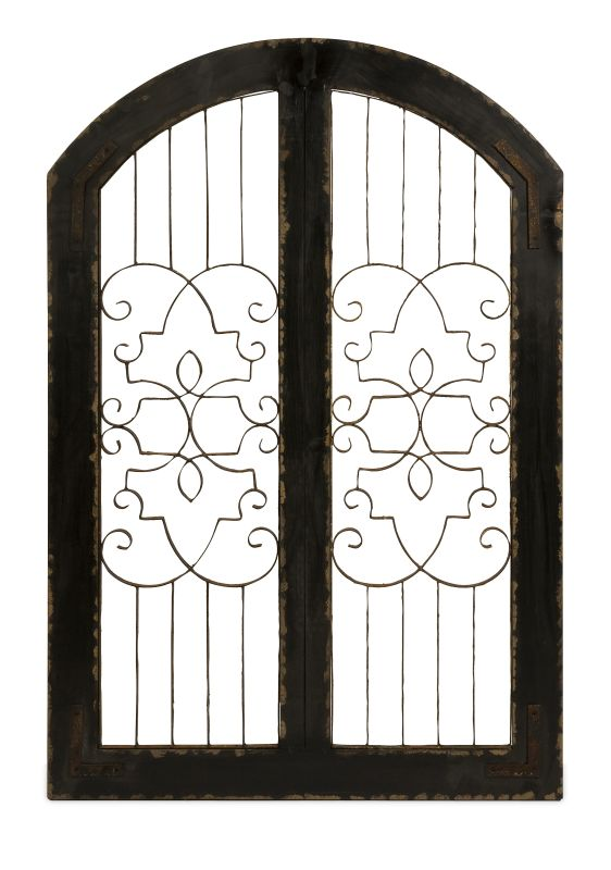 IMAX Home 47367 Amelia Iron and Wood Gate Home Decor Room Dividers