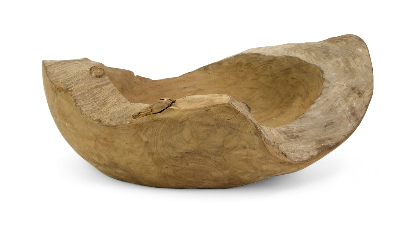 IMAX Home 54113 Macaque Large Teakwood Bowl Home Decor Decorative