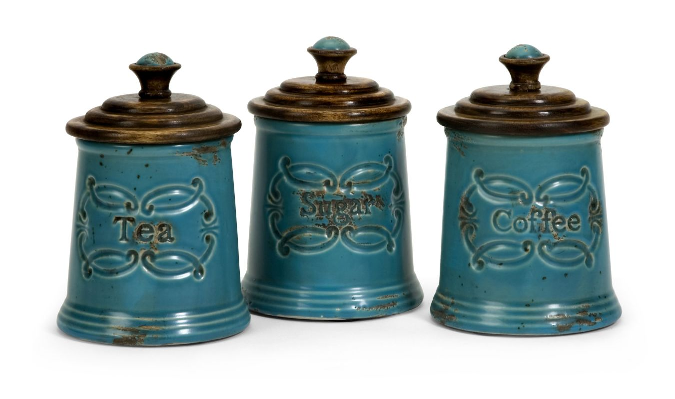 IMAX Home 5506-3 Provincial Canisters - Set of 3 Home Decor