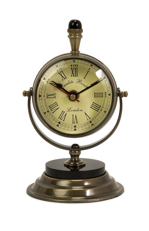 IMAX Home 60082 Soren Brass Table Clock Home Decor Desk Clocks