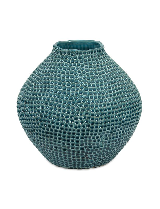 IMAX Home 64338 Isaac Short Crater Vase Home Decor Vases