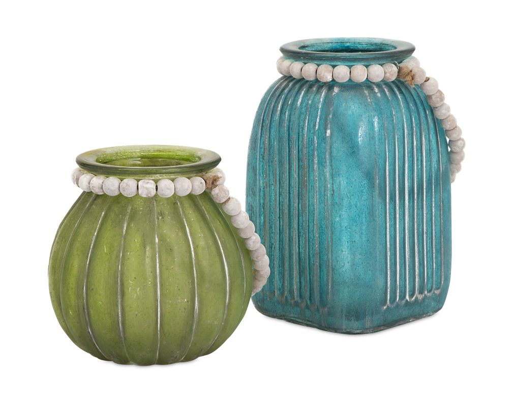 IMAX Home 65253-2 Alta Colored Jars - Set of 2 Home Decor