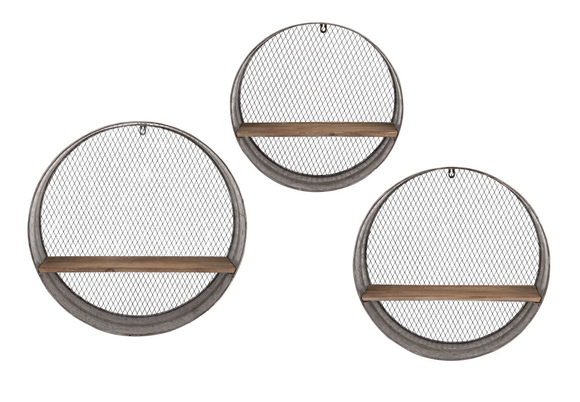 IMAX Home 65320-3 Laurel Round Wall Shelves - Set of 3 Home Decor