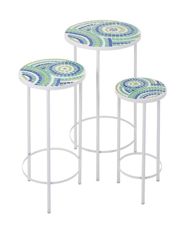 IMAX Home 65372-3 Laguna Mosaic Tables - Set of 3 Furniture