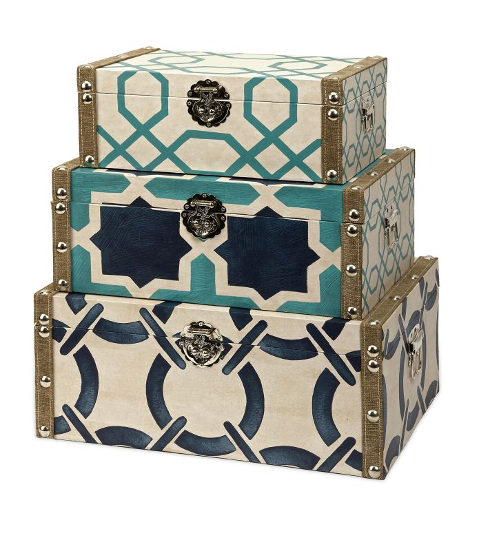 IMAX Home 68039-3 Hadley Boxes - Set of 3 Home Decor Boxes and