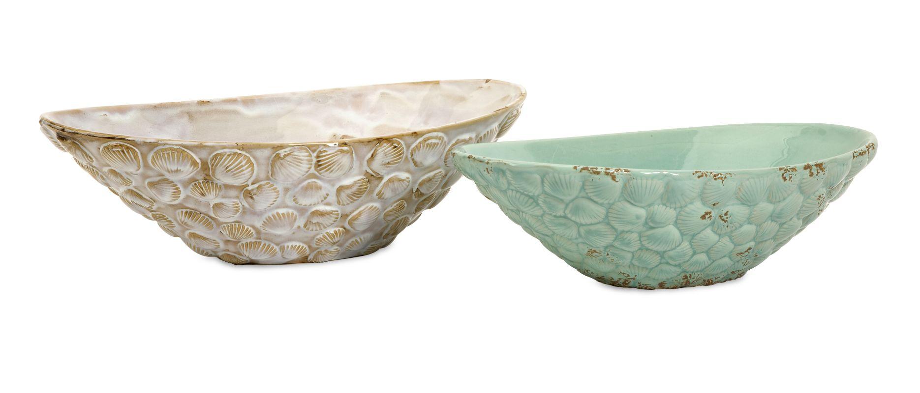 IMAX Home 69257-2 Seashell Serving Bowls - Set of 2 Home Decor