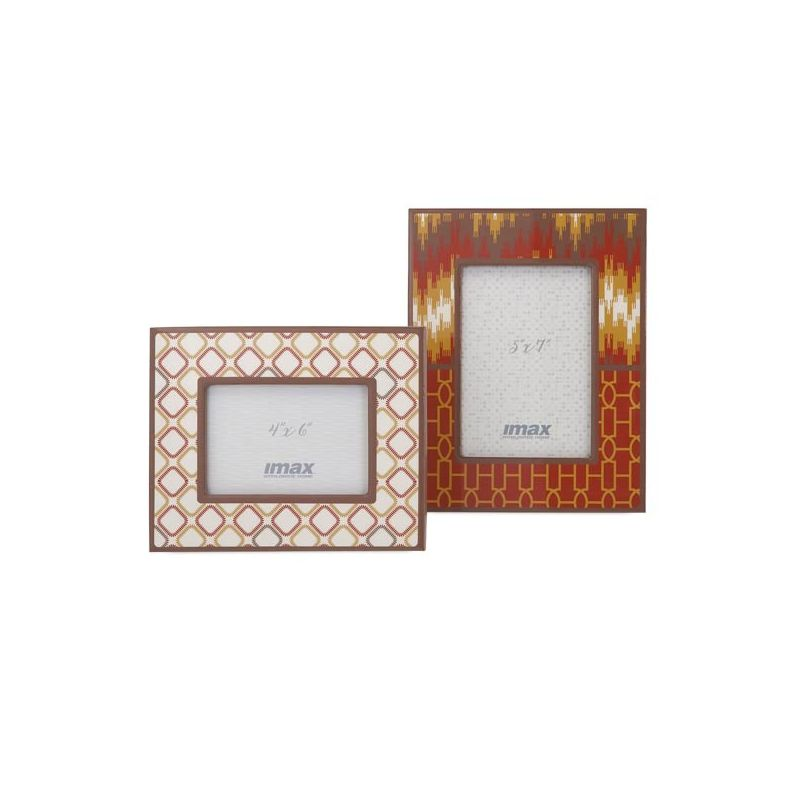 IMAX Home 71121-2 Essentials Energetic Photo Frames - Set of 2 N/A