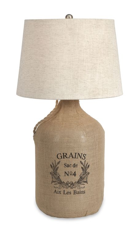 IMAX Home 71736 Radburn Jute Wrapped Wine Jug Lamp Lamps Sale $207.88 ITEM: bci2625590 ID#:71736 UPC: 784185717365 :