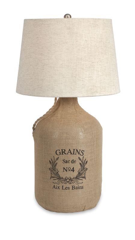 IMAX Home 71736 Radburn Jute Wrapped Wine Jug Lamp Lamps