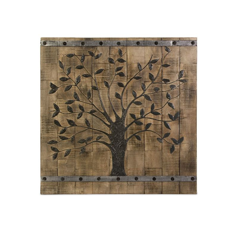 "IMAX Home 73075 36"" Tree Of Life Wood Wall Panel Home Decor Wall"