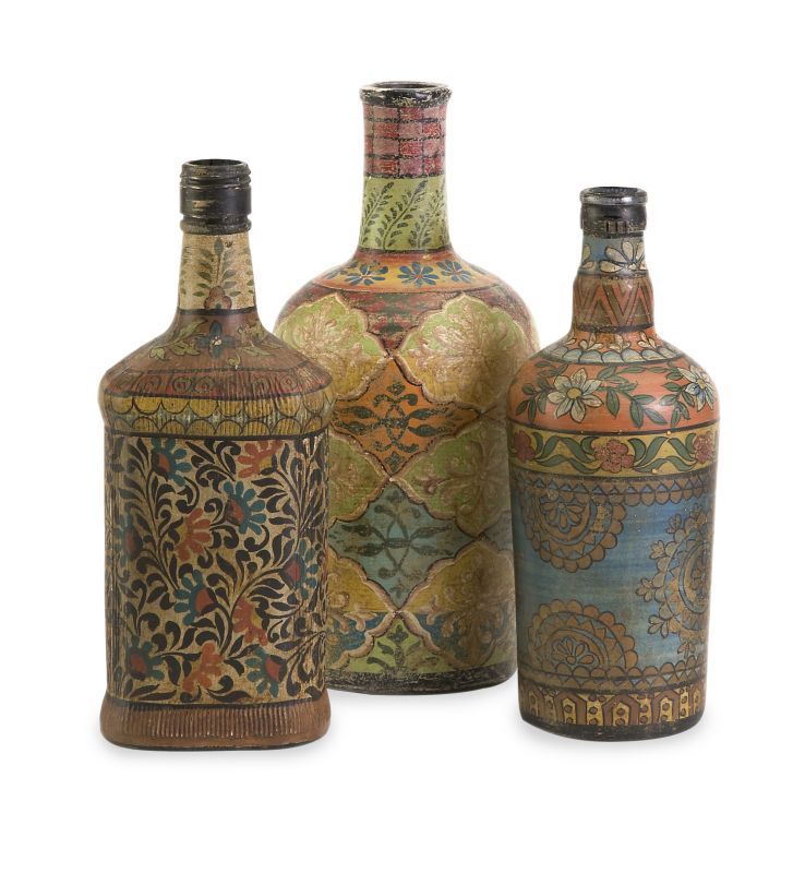 IMAX Home 73105-3 Circus Bottles - Set of 3 Home Decor Decorative