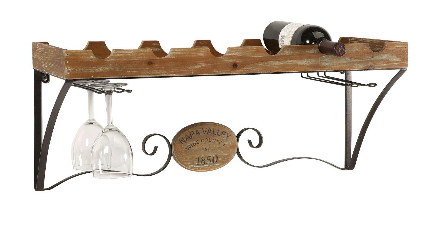 IMAX Home 74246 Napa Valley Wine Shelf Home Decor Wine Racks