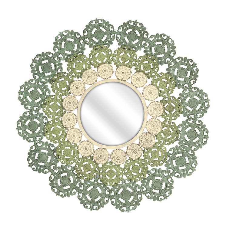 "IMAX Home 74313 Mcguire 38"" Circular Mirror Home Decor Lighting"