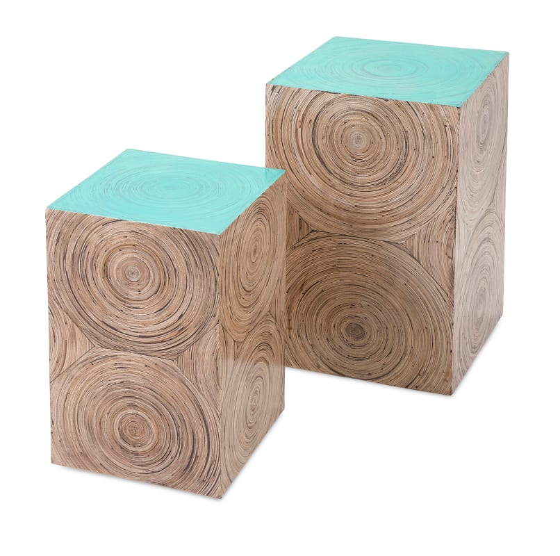 IMAX Home 81318-2 Yanna Bamboo Tables - Set of 2 Furniture