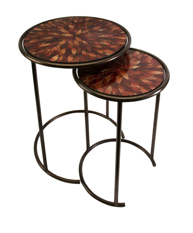 IMAX Home 83015-2 Mashaka Handcrafted Mosaic Glass Tables - Set of 2 Sale $191.57 ITEM: bci2627384 ID#:83015-2 UPC: 784185830156 :
