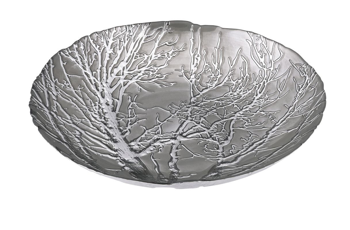 IMAX Home 83252 Ethereal Tree Bowl - Silver Plated Home Decor