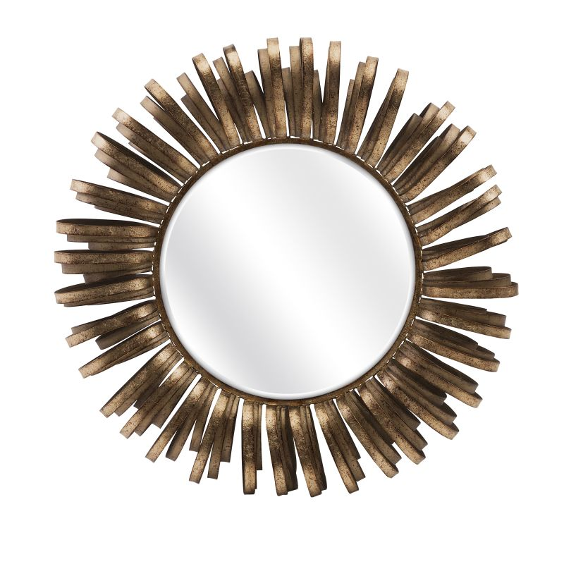 "IMAX Home 83400 Harlin 34.75"" Circular Mirror Home Decor Lighting"