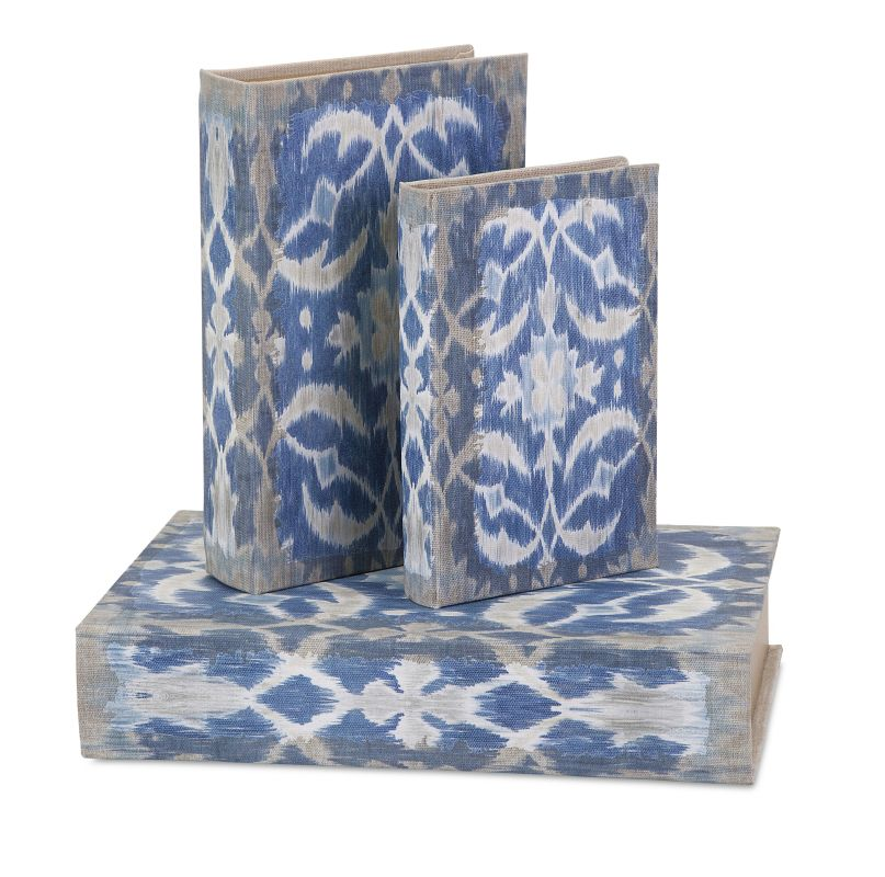 IMAX Home 83539-3 Dean Book Boxes - Set of 3 Home Decor Boxes and