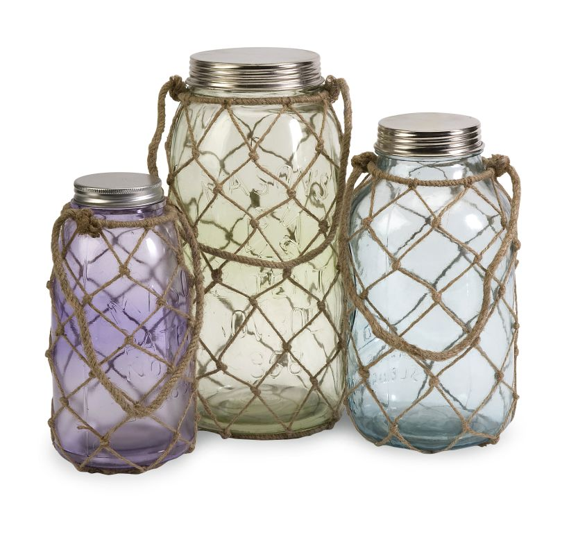 IMAX Home 84755-3 Marci Decorative Glass Jars - Set of 3 Home