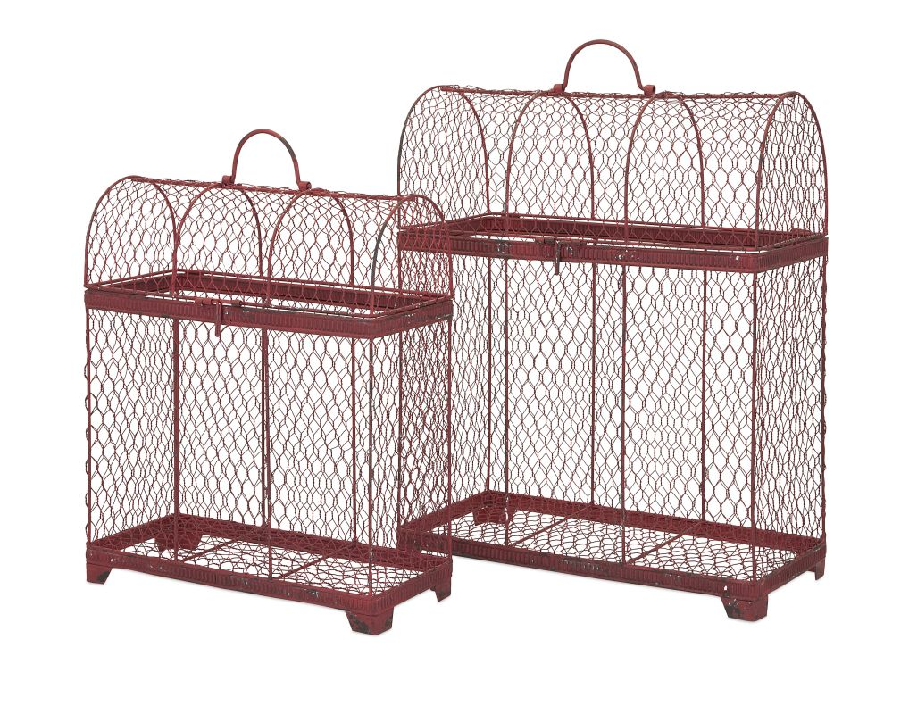 IMAX Home 85817-2 Cynthia Bird Cages - Set of 2 Home Decor Bird