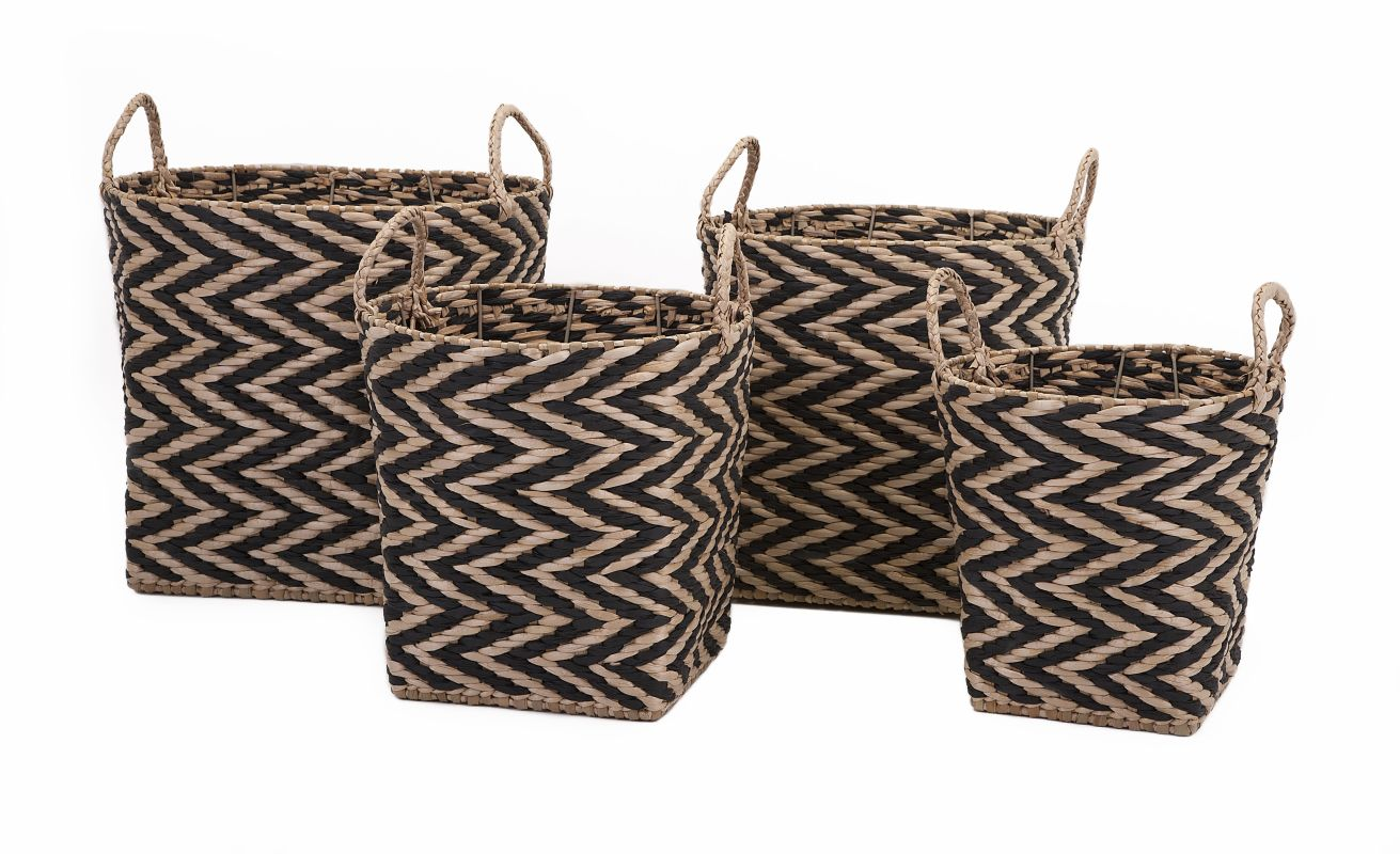 IMAX Home 85870-4 Moriah Baskets - Set of 4 Home Decor Boxes and