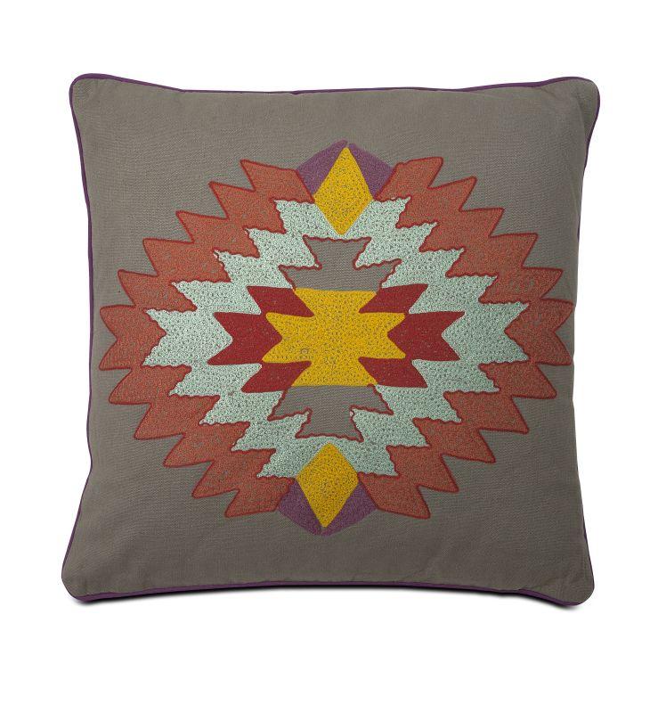 IMAX Home 86036 Indian Summer Grey Pillow Home Decor Pillows