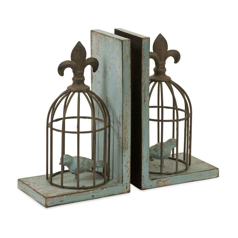 IMAX Home 87378-2 Birdcage Bookends - Set of 2 Home Decor Bookends