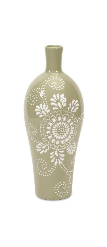 IMAX Home 87598 Kayla Small Pattern Vase Home Decor Vases