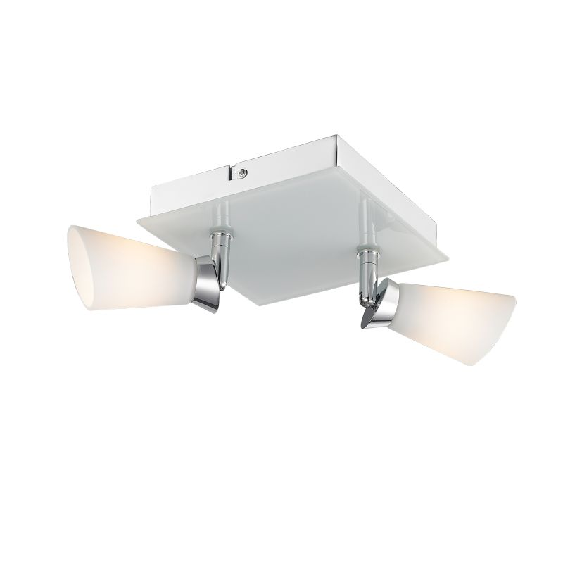 Iberlamp C024-F2-CH Chrome Contemporary Opera Ceiling Light