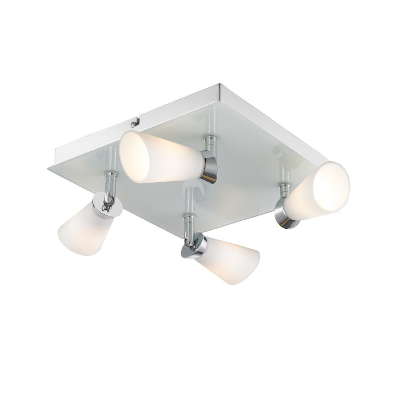 Iberlamp C024-F4-CH Chrome Contemporary Opera Ceiling Light