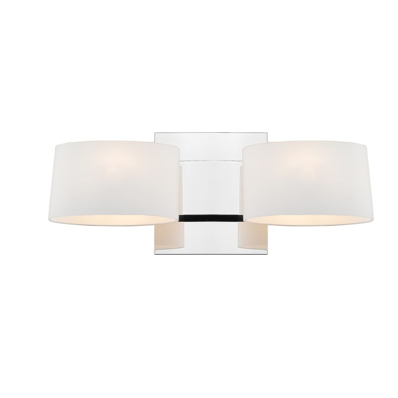 Iberlamp C130-W2-CH-OP Chrome Contemporary Clio Wall Sconce