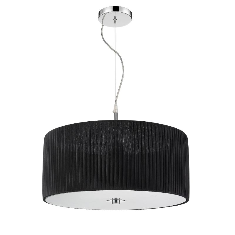 Iberlamp C177-03-CH-BK Chrome Contemporary Solal Pendant