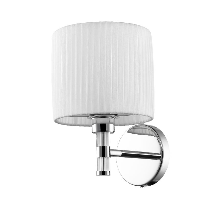 Iberlamp C177-W1-CH-WH Chrome Contemporary Solal Wall Sconce