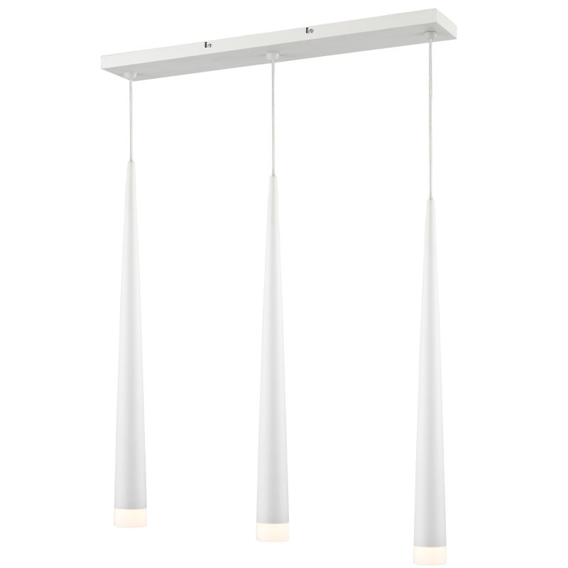 Iberlamp C186-L3-WH Chrome Contemporary Soft Pendant