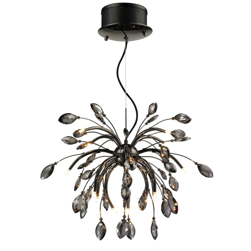 Iberlamp C304-16 Palm 16 Light 1 Tier Chandelier Graphite Indoor