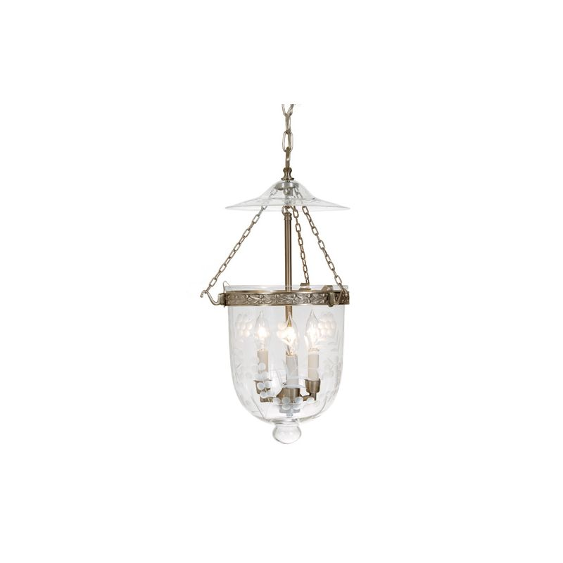 JVI Designs 1020 Kensington 3 Light Full Sized Pendant Rubbed Brass