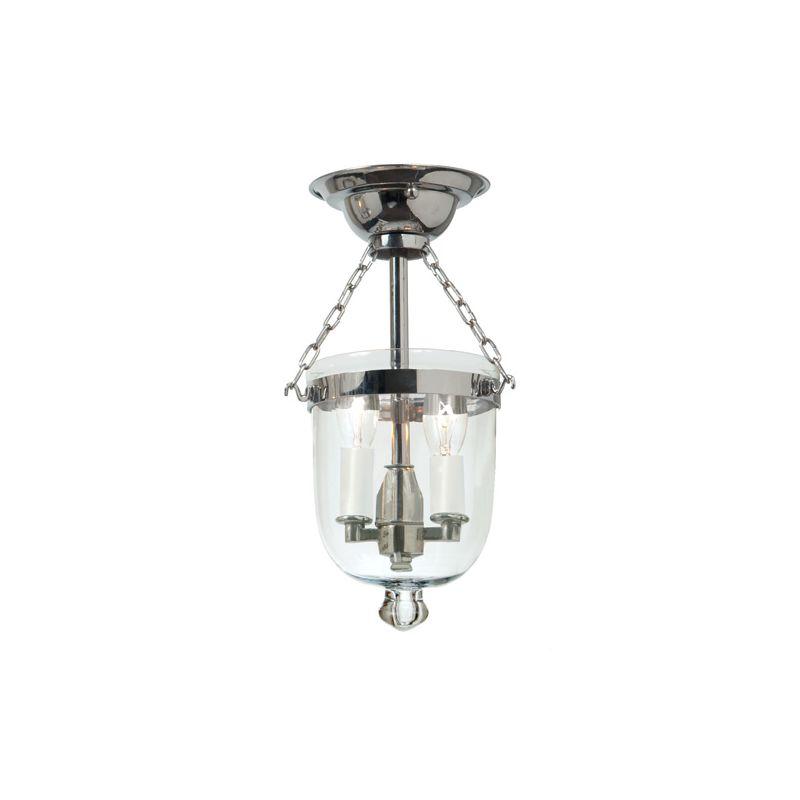 JVI Designs 1047 2 light Semi-Flush Ceiling Fixture Polished Nickel