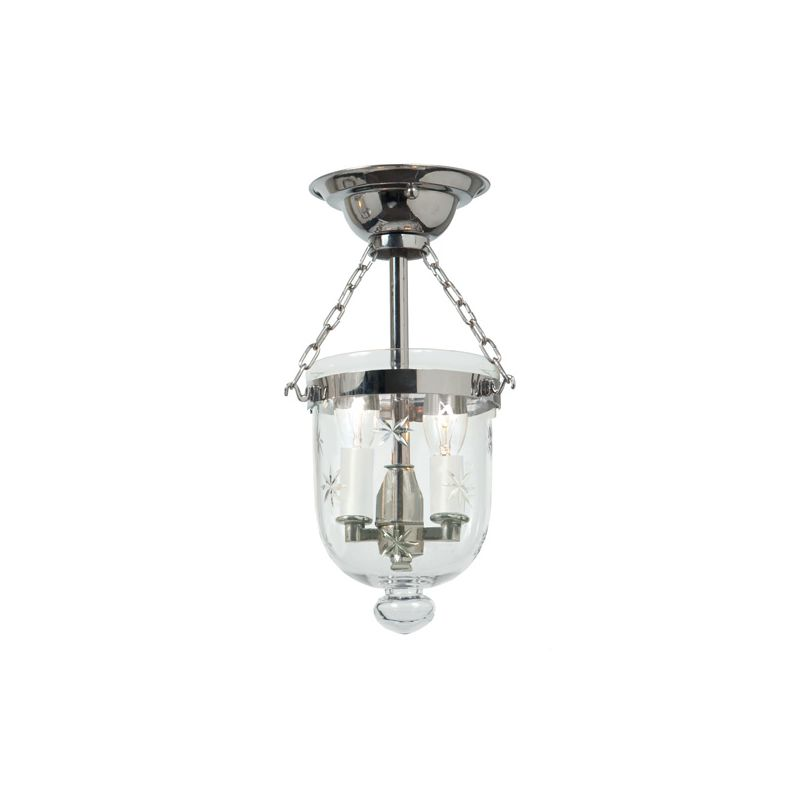 JVI Designs 1048 2 light Semi-Flush Ceiling Fixture Polished Nickel
