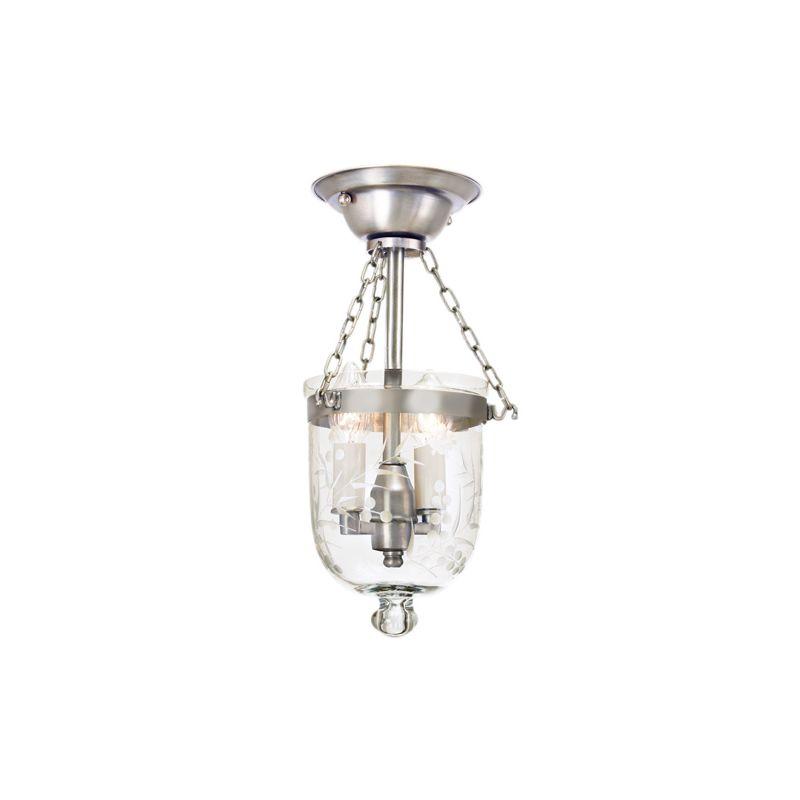 JVI Designs 1049 Hundi 2 Light Semi-Flush Ceiling Fixture Pewter