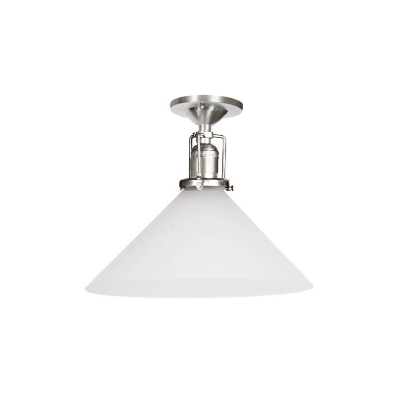 JVI Designs 1202-17-S2-F Union Square 1 Light Semi-Flush 7.5&quote Tall