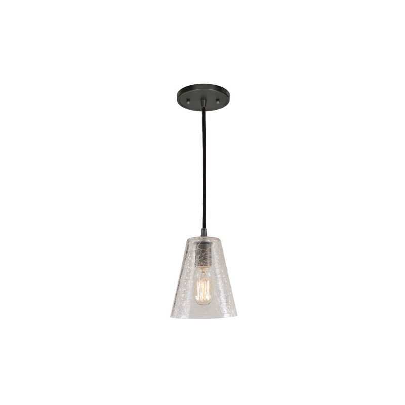 "JVI Designs 1300-17-G1-CK Grand Central 1 Light 8"" Tall Pendant with"