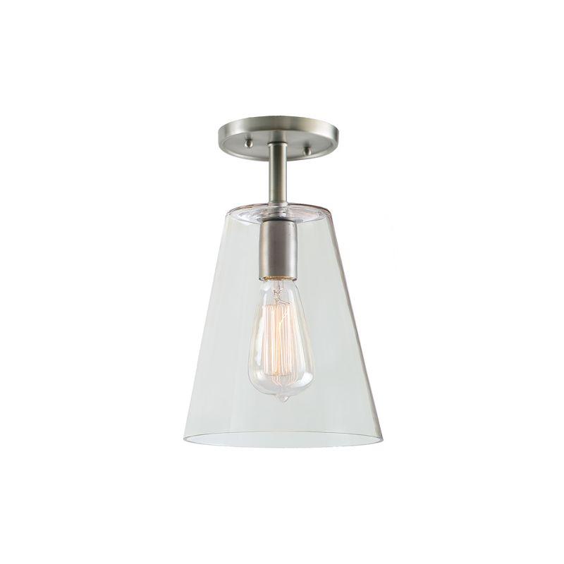 "JVI Designs 1301-18-G2 Grand Central 1 Light Semi-Flush 12"" Tall"