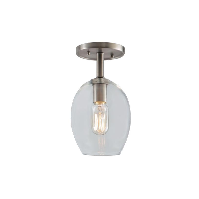 "JVI Designs 1301-18-G3 Grand Central 1 Light Semi-Flush 11"" Tall"