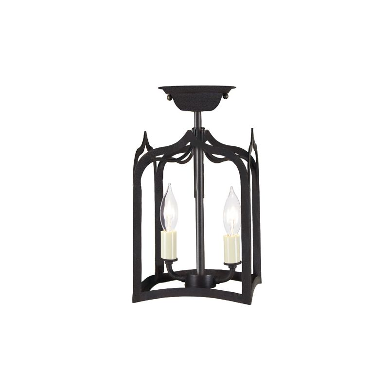 JVI Designs 3000 2 light Semi-Flush Ceiling Fixture from the Gothic