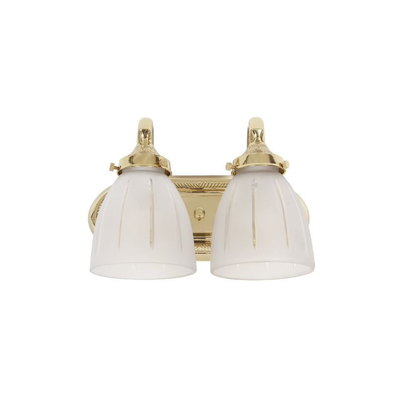 JVI Designs 714 2 Lights Bathroom Fixture Polished Brass Indoor