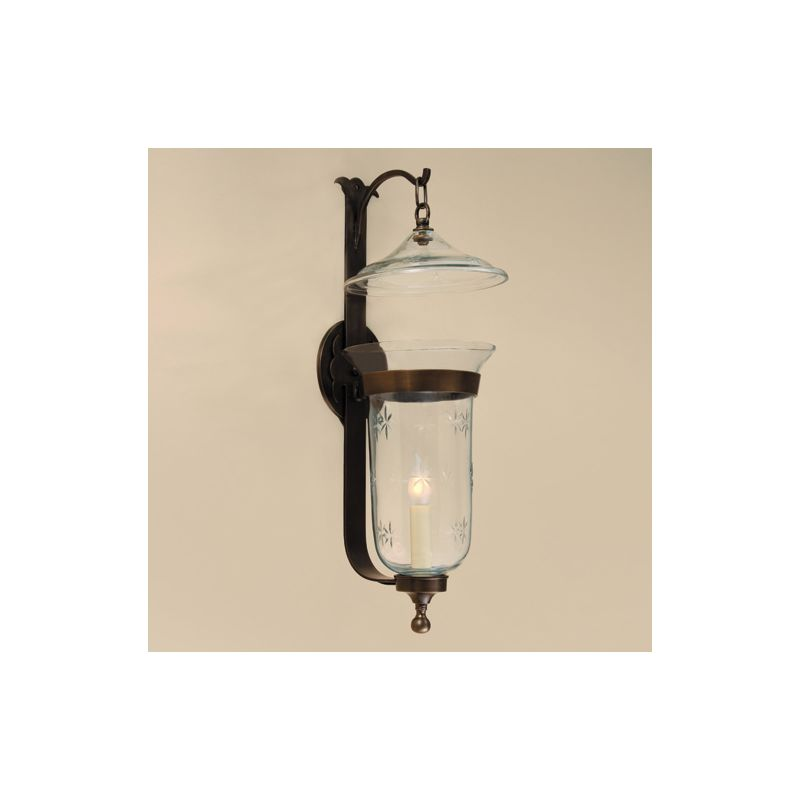 JVI Designs 1000 1 light Up Lighting Wall Sconce Rubbed Brass Indoor