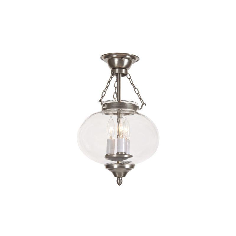 JVI Designs 1174 3 light Semi-Flush Ceiling Fixture from the Classic