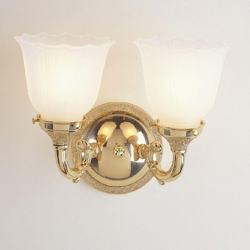 JVI Designs 842 2 Lights Bathroom Fixture Polished Chrome Indoor