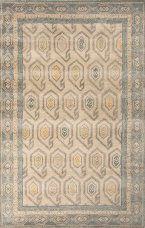 Jaipur Oakland Oyster White Rug Contemporary Tribal Pattern Wool Sale $495.00 ITEM: bci2831556 ID#:RUG125280 UPC: 887962516288 :